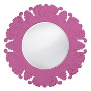 Howard Elliott Anita Round Mirror; Hot Pink