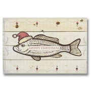 Gizaun Art 4 Piece Wile E. Wood Merry Christmas Fish Graphic Art Set