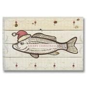 Gizaun Art Wile E. Wood Merry Christmas Fish Wall Art