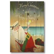 Gizaun Art Wile E. Wood Merry Christmas Beach Santa Wall Art