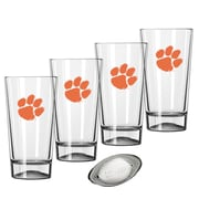 Kraftware Collegiate 16 Oz. Pint Sports Glasses (Set of 4); Clemson