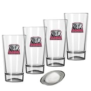 Kraftware Collegiate 16 Oz. Pint Sports Glasses (Set of 4); Alabama
