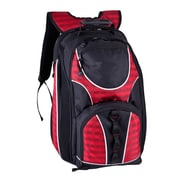 World Traveler 17'' Checkpoint Friendly Laptop Backpack; Red
