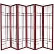 Oriental Furniture Eudes 6 Paned Room Divider; Rosewood