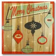 Gizaun Art Wile E. Wood Retro Christmas Wall Art