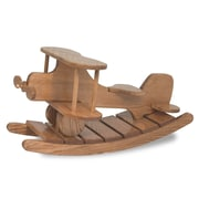 FireSkape Amish Unique Crafted Airplane Rocker Heirloom Toy; Solid Oak