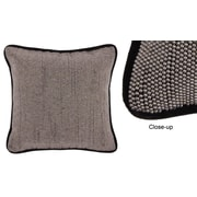 Jovi Home Diva Hand-Beaded Throw Pillow; Black and Silver