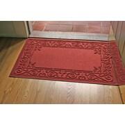 Bungalow Flooring Aqua Shield Iron Fleur Doormat; Red