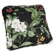 Ellis Curtain Garden Images Large Scale Floral Print Toss Cotton Throw Pillow; Black