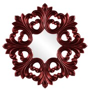 Howard Elliott Annabelle Baroque Mirror; Red