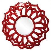 Howard Elliott Casey Mirror; Red