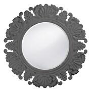 Howard Elliott Anita Round Mirror; Charcoal Gray