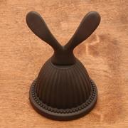 Rk International BE Series 4'' Beaded Bell Base Double Hook; Oil Rubbed Bronze