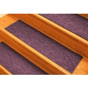 Bungalow Flooring Aqua Shield Bordeaux Fall Day Stair Tread (Set of 4)