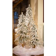 Kringle Traditions 36'' Flocked Alpine Prelit Slender Tree