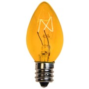 Kringle Traditions C7 Triple Dipped Transparent Bulb (Set of 25); Yellow