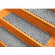Bungalow Flooring Aqua Shield Medium Gray Fall Day Stair Tread (Set of 4)