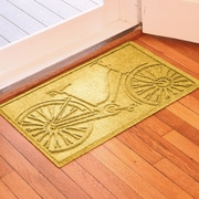 Bungalow Flooring Aqua Shield Bicycle Doormat; Yellow
