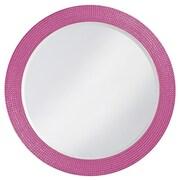 Howard Elliott Lancelot Round Mirror; Hot Pink