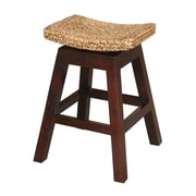 Jeffan Sanibel Swivel Bar Stool in Natural Mahongany; 24''