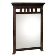 Ronbow Transitional Style Framed Mirror; Vintage Walnut