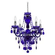 AF Lighting Queen 4 Light Mini Chandelier; Purple