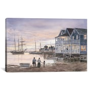 iCanvas 'Nantucket Sunset' by Stanton Manolakas Painting Print on Canvas; 18'' H x 26'' W x 1.5'' D