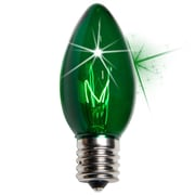 Kringle Traditions C9 Twinkle Transparent Bulb; Green