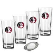 Kraftware Collegiate 16 Oz. Pint Sports Glasses (Set of 4); Florida State