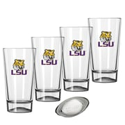 Kraftware Collegiate 16 Oz. Pint Sports Glasses (Set of 4); Louisiana State University