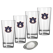Kraftware Collegiate 16 Oz. Pint Sports Glasses (Set of 4); Auburn