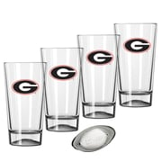 Kraftware Collegiate 16 Oz. Pint Sports Glasses (Set of 4); Georgia