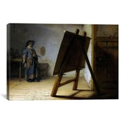 iCanvas 'The Artist in His Studio' by Rembrandt Painting Print on Wrapped Canvas