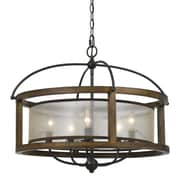 Cal Lighting Mission 5 Light Drum Chandelier