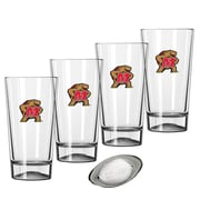 Kraftware Collegiate 16 Oz. Pint Sports Glasses (Set of 4); Maryland