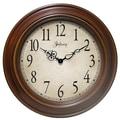 Infinity Instruments Oversized 24'' Atheneum Wall Clock; Antique Walnut