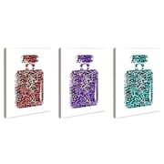 Stupell Industries lulusimonSTUDIO 3 Piece Leopard-Print Perfume Bottle Wall Art Set (Set of 3)