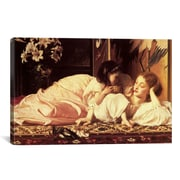 iCanvas 'Mother and Child' by Frederick Leighton Painting Print on Canvas; 8'' H x 12'' W x 0.75'' D