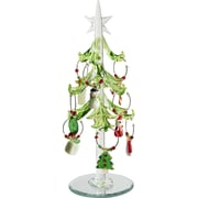 LS Arts, Inc. Glass Christmas Tree with Wine Markers Ornaments