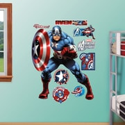 Fathead RealBig Marvel Avengers Assemble, Captain America Wall Decal