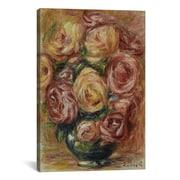 iCanvas ''Vase De Roses'' by Pierre-Auguste Renoir Canvas Painting Print; 12'' H x 8'' W x 0.75'' D