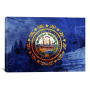 iCanvas Flags New Hampshire Loon Mountain Graphic Art on Canvas; 18'' H x 26'' W x 0.75'' D