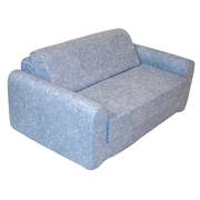 Elite Products Children's Sleeper Sofa; Blue
