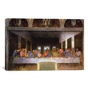 iCanvas 'The Last Supper' by Leonardo Da Vinci Painting Print on Canvas; 8'' H x 12'' W x 0.75'' D
