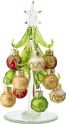 LS Arts, Inc. Glass Christmas Tree w/