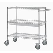 Excel 40'' Three Shelf Heavy Duty Commercial Grade Shelving Cart