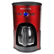Kalorik 12 Cup Coffee Maker in Silver; Red