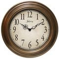 Infinity Instruments Oversized 24'' Atheneum Wall Clock; Antique Gold