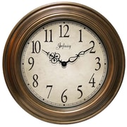 Infinity Instruments Oversized Atheneum Wall Clock; Antique Gold