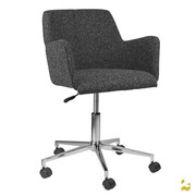 Kanto Mid-back Task Chair with Base and Wheel; Gray